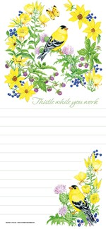 Goldfinch in Thistle | Songbird themed list pads