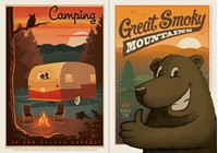 Camping & Great Smoky Grinning Bear