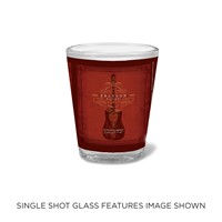 Branson Red Guitar Shot Glass