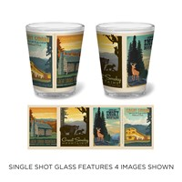 Great Smoky Scenes Shot Glass