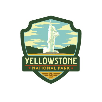 Yellowstone Old Faithful Emblem Magnet | Vinyl Magnet