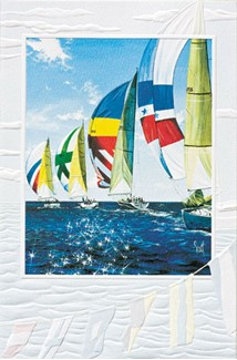 Diamond Regatta | Ocean inspirational greeting cards