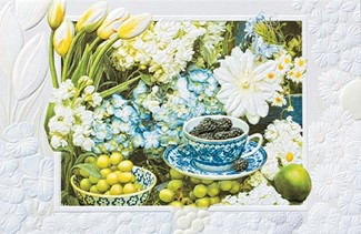 Tea & Blackberries | American made embossed greeting cards
