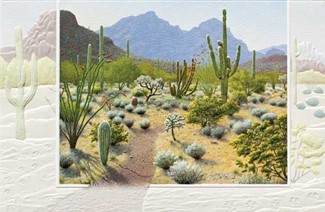 Desert Trail | Embossed cactus greeting cards