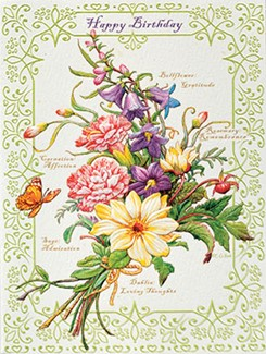 Floral Bouquet | Floral birthday note cards
