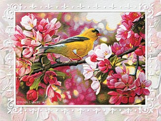 Golden Touch | Goldfinch birthday note cards
