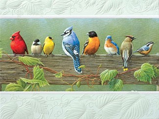 Railbirds | Songbirds embossed greeting cards