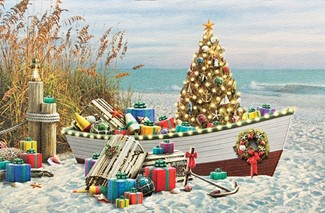 nautical noel beach themed christmas cards - Beach Christmas Cards