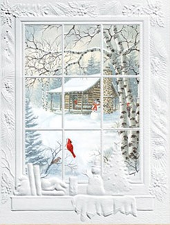 Cabin Window | Scenic boxed Christmas cards