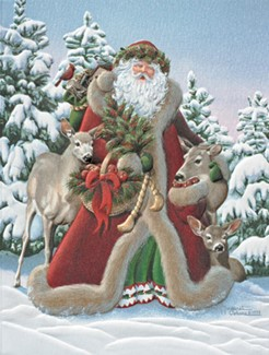St. Nick | Santa Claus themed boxed Christmas cards