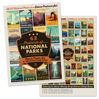 National Parks 61 Postcard Set