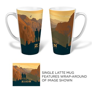 Zion Angel's Landing Latte | National park themed mugs