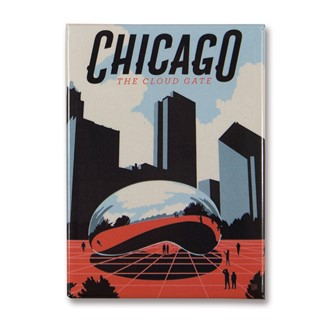 Chicago Millennium Park Magnet | American made magnets