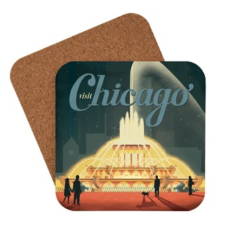 Chicago Buckingham Fountain Coaster | Made in the USA