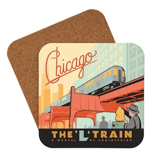 Chicago L-Train Coaster | Chicago Themed Coaster