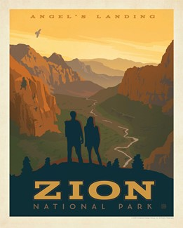 Zion Angel's Landing Print | American Made