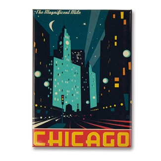 Chicago Modern Magnificent Mile Magnet | Made in the USA