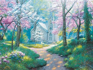 Chapel in the Woods | Petite size greeting cards