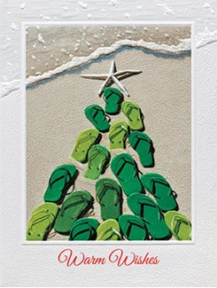 Flip Flops | Beach themed Christmas cards