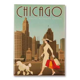 Chicago Michigan Avenue Magnet | Chicago themed magnet