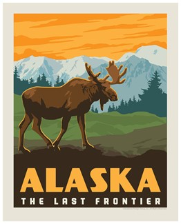 AK Frontier Moose Print | Made in the USA