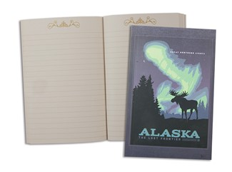 AK Northern Lights Moose | Alaskan Moose Pocket Journal