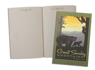 Great Smoky Mama Bear & Cubs | American Made Pocket Journal