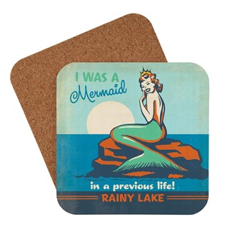 Rainy Lake Mermaid Queen | American Made Coaster