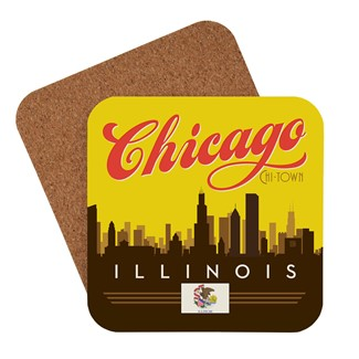 Chicago Sunset Skyline | American Made Coaster