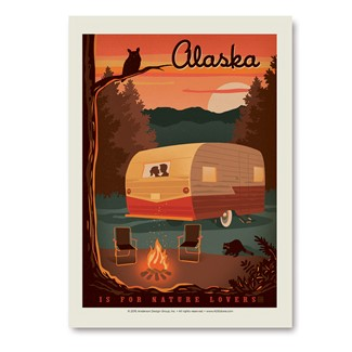 AK Camping Nature Lovers | Vertical Sticker