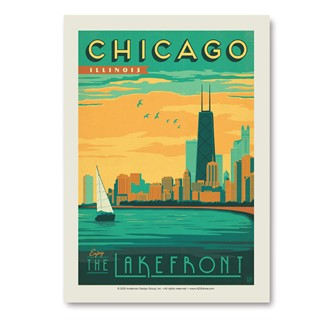 Chicago Lakefront | Vertical Sticker