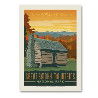 Great Smoky Cabin | Vertical Sticker