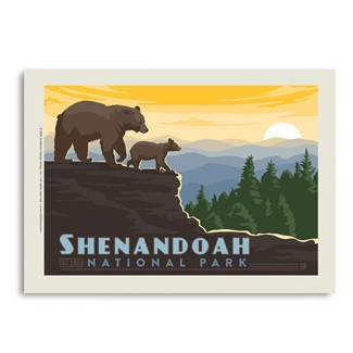 Shenandoah Mountaintop | Vertical Sticker