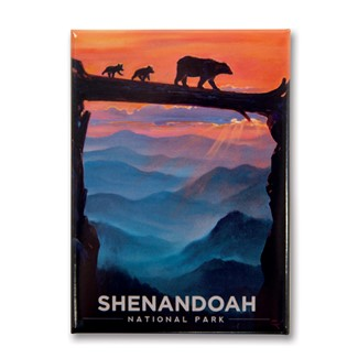 Shenandoah Bear Crossing | Metal Magnet