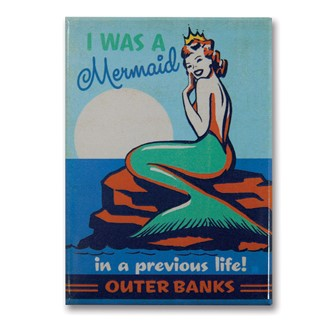 Outer Banks Mermaid Queen Magnet | Metal Magnet