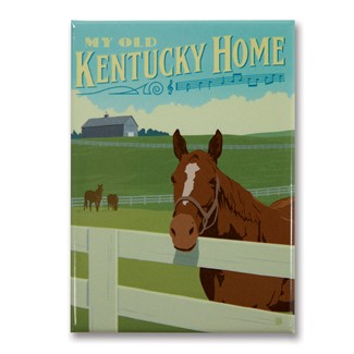 My Old Kentucky Home Horse Magnet | Metal Magnet