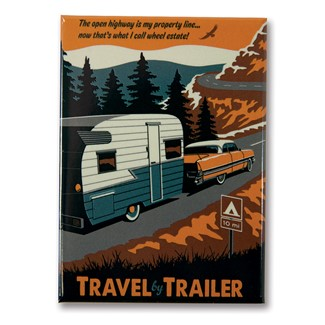 Travel by Trailer Magnet | Metal Magnet