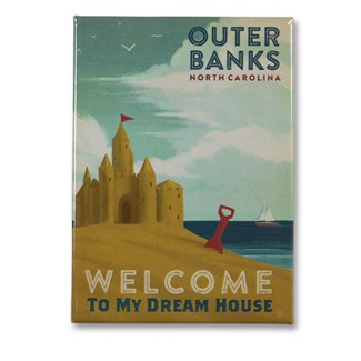 Outer Banks My Dream House Magnet | Metal Magnet