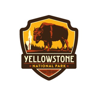 Yellowstone National Park Emblem Magnet | Vinyl Magnet