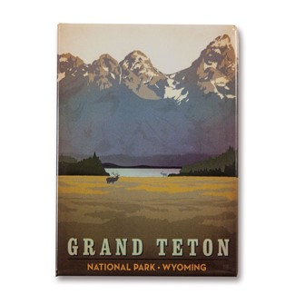 Grand Teton Metal Magnet| American Made Magnet
