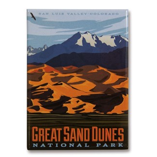 Great Sand Dunes Metal Magnet| American Made Magnet