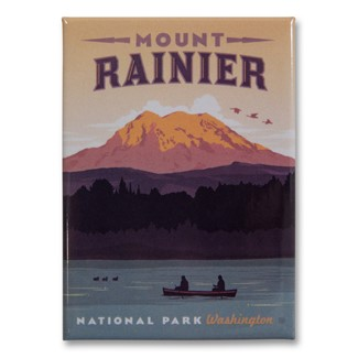 Mount Rainier Metal Magnet| American Made Magnet