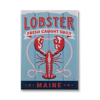 ME Lobster Fresh Caught Magnet | Metal Magnet