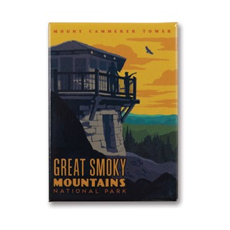 Great Smoky Mt. Cammerer Tower | Metal Magnet