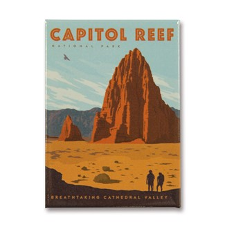 Capitol Reef Cathedral Valley Magnet | Metal Magnet