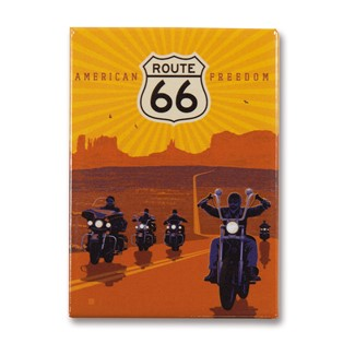 Route 66 American Freedom Magnet | Metal Magnet