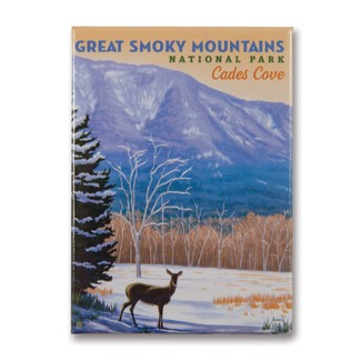 Great Smoky Cades Cove | Metal Magnet