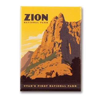 Zion Sacred Cliffs | Metal Magnet