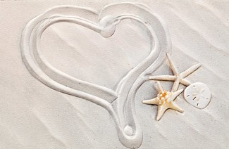 Heart of Sand | Wedding greeting cards