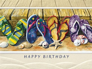 Flip Flop Fun | American made greeting cards